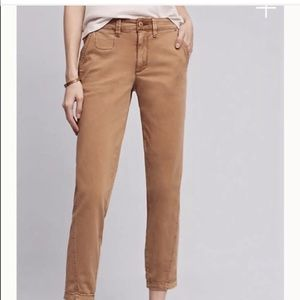 Anthropologie Chinos Relaxed Pants in Camel